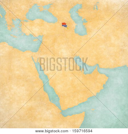 Map Of Middle East - Armenia