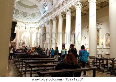San Marino San Marino - November 06 2016: Interior of the Basilica San Marino. Italy. Europe