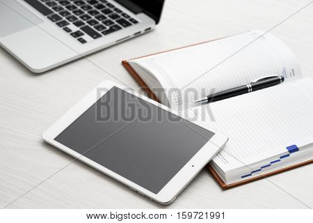 Tablet Computer On Desk