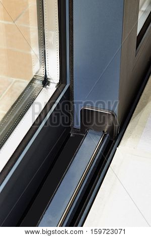Sliding Glass Door Detail And Rail Embed