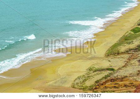 Aerial Seascape Scene Pipa Brazil