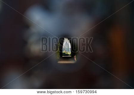 St. Peter's Basilica from keyhole from Knights of Malta place Rome Italy