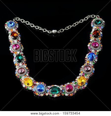 jewelry with precious stones and crystals for women jewelry for wedding and evening along poster