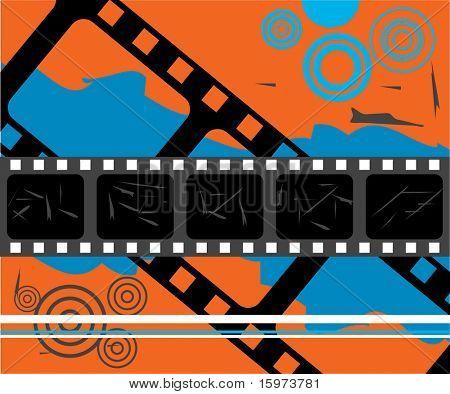 film grunge vector