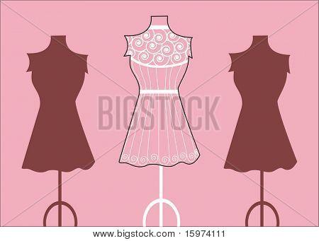 fashion mannequin  bodyforms vectors