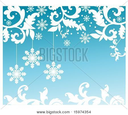 snowflakes design with foliage vector