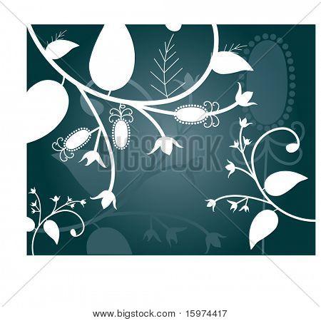winter foliage vector