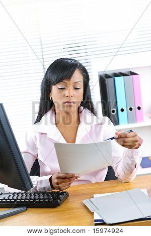 Black Businesswoman Working At Desk