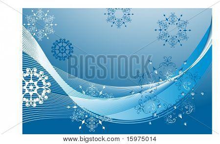 decorative snowflake background