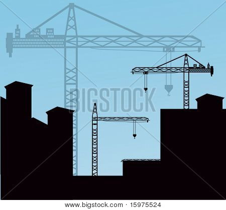 cranes over buildings (use together or separately)