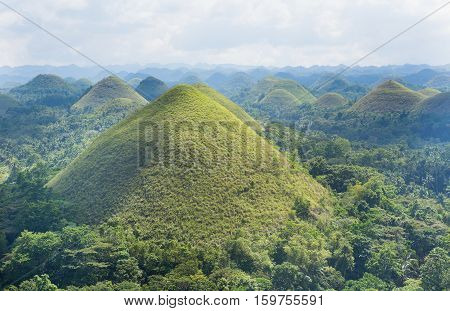 Chocolate Hills Bohol Island Philippines in South-East Asia