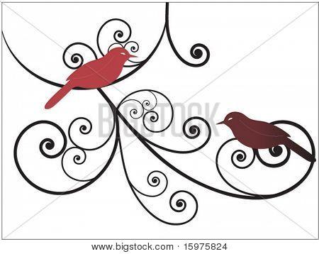 springtime birds with coils