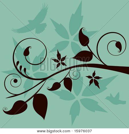 summer vine with birds