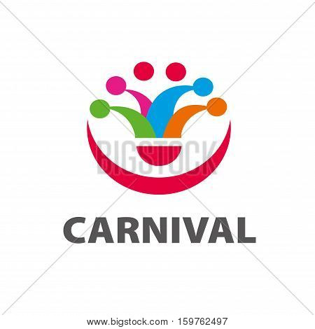 template design logo carnival. Vector illustration of icon