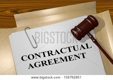 Contractual Agreement - Legal Concept