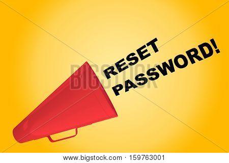 Reset Password! Concept