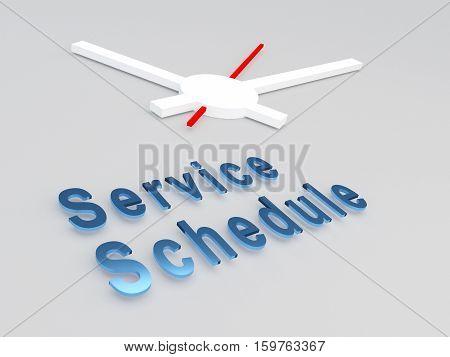 Service Schedule Concept
