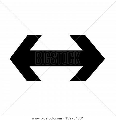 an images of 2 way arrow icon illustration design