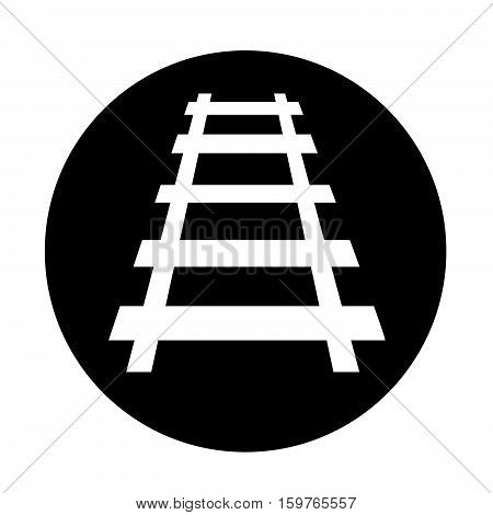 an images of Railway track icon illustration design