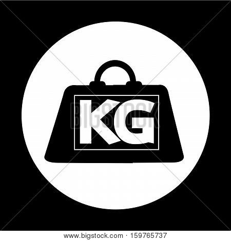 an images of weight kilogram icon illustration design