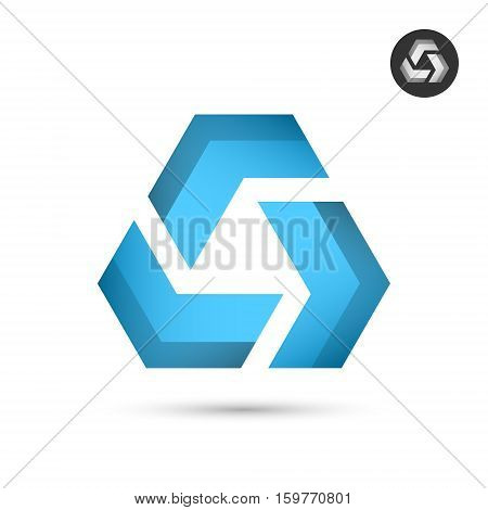 Delta letter with blue arrows union concept icon 3d vector illustration icon isolated on white background eps 10