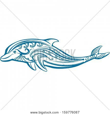 Decorated dolphin