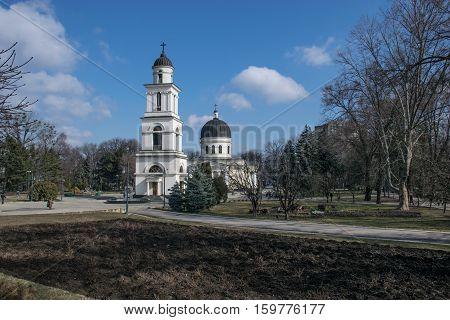 MARCH 2015 - CHISINAU, MOLDOVA: Nativity Cathedral in Chisnau, Moldova March 2015