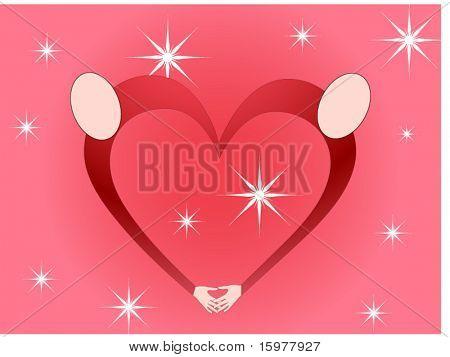 heart symbol of people