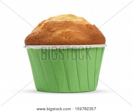 Muffin Cupcake Isolated On White Background.