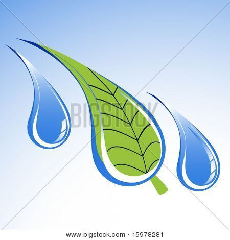 environment icon leaf in water droplet