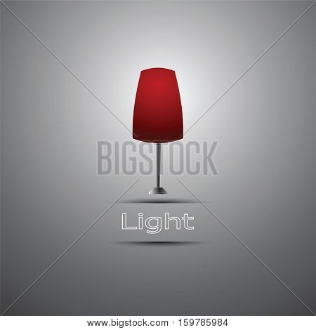 Lamp icon with light lettering vector illustration Eps 10.