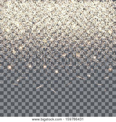 Christmas background. Flare light. Magic hat. New year celebration. Vector illustration of a transparent backdrop.