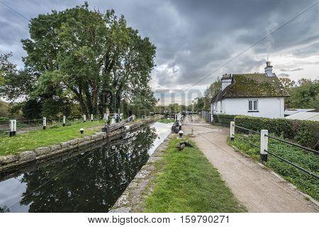 Denham Lock Grand Union Canal At Denham In Colne Valley Regional Park.