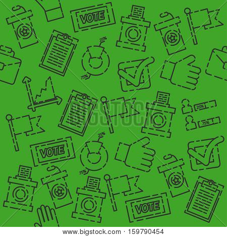Vote set pattern. Can be used for backgrounds, prints. Vector illustration, EPS 10
