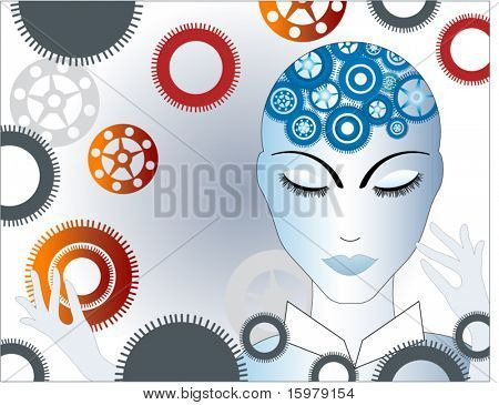 woman with gears 2