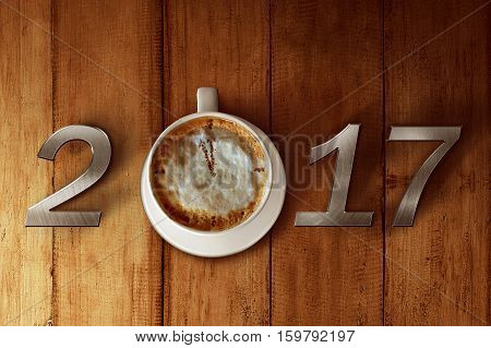 Cup Of Coffee And 2017 Number