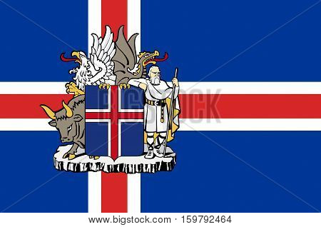 Flag of Republic of Iceland is a Nordic island country.