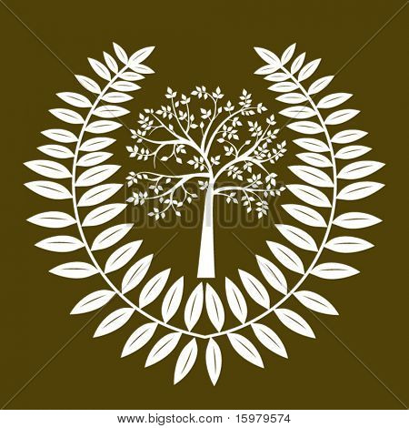 environment  icon tree and leaves