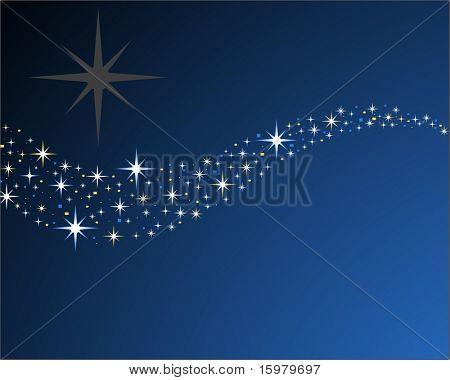 stars in wave pattern