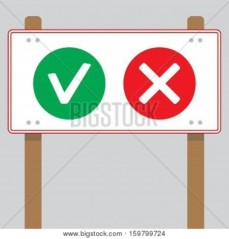 Choosing banner yes or no. Choice and selection options and decision decide vector illustration