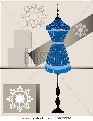 window dressing with bodyform and shapes