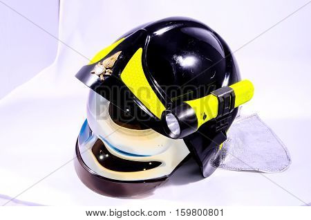 Black Italian Firefighter Helmet