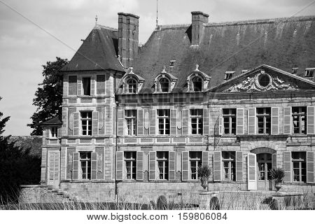 Old castle of the 17th century in Courson/Chantilly domain