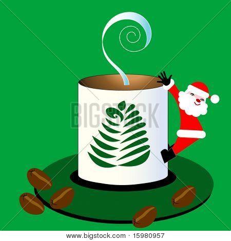 Santa coffee (santa is the handle)