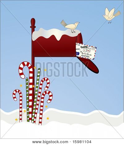 mailbox with letter to santa 3 0f 3