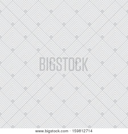 Art deco seamless pattern. Modern stylish texture. Regularly repeating geometrical ornament with thin corner lines rhombuses. Vector abstract seamless background