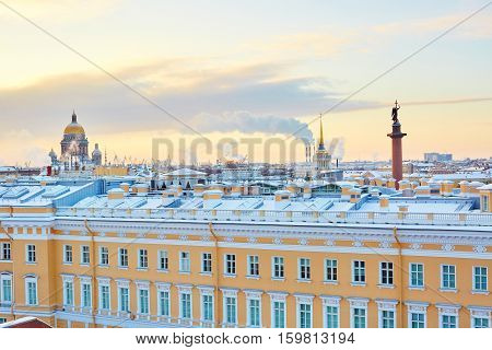 Scenic View Of The Palace Square In St. Petersburg