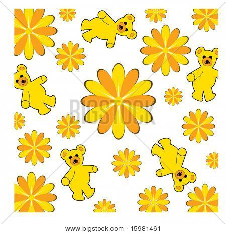 Teddy-bear blanket - wallpaper pattern