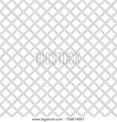 Vector seamless pattern. Simple minimal abstract geometric background. Modern linear texture with thin lines. Regularly repeating geometrical tiled grid with rhombus diamond. Outline. Trendy design