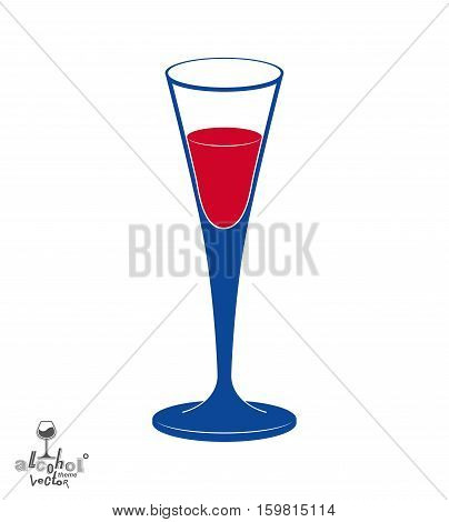Classic Vector Champagne Goblet, Alcohol Beverage Theme Illustration. Lifestyle Graphic Design Eleme